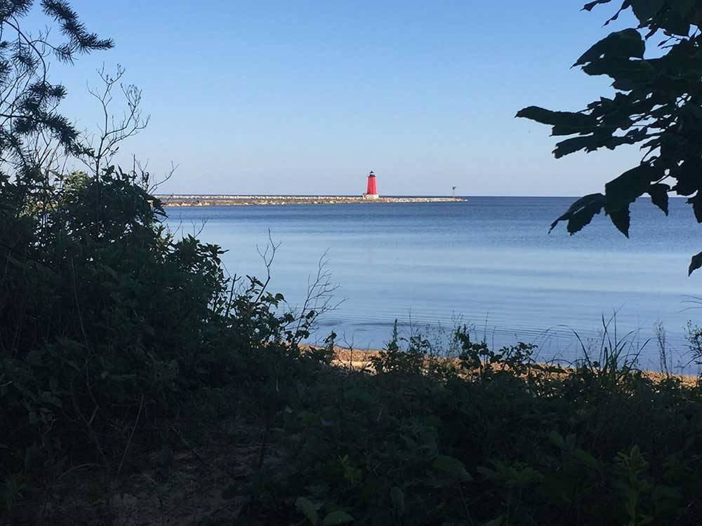 Lighthouse at MANISTIQUE LAKESHORE CAMPGROUND