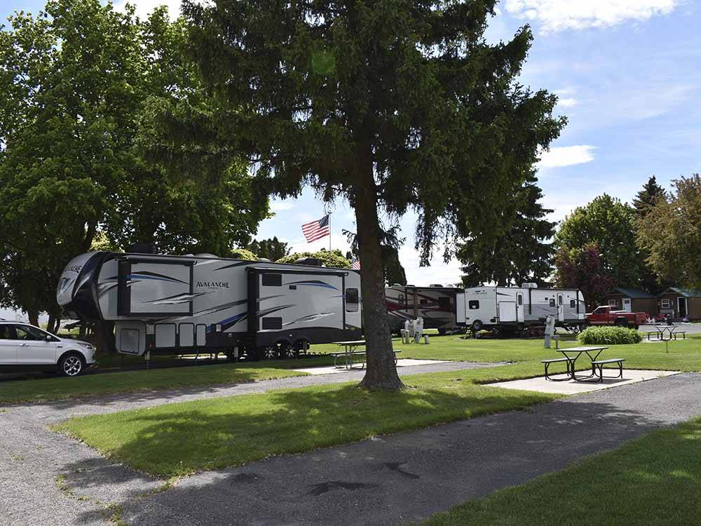 Sign at entrance of RV park at GOOSE CREEK RV PARK  CAMPGROUND