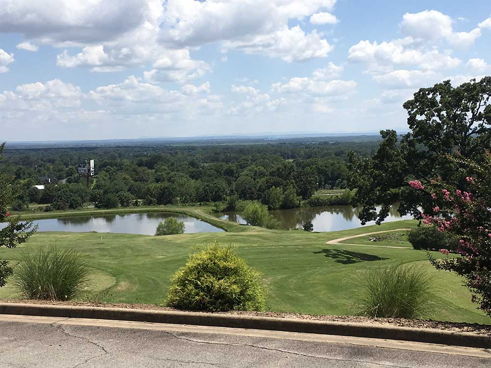 View of golf course from a hill at EAGLE CREST GOLF COURSE AND RV PARK