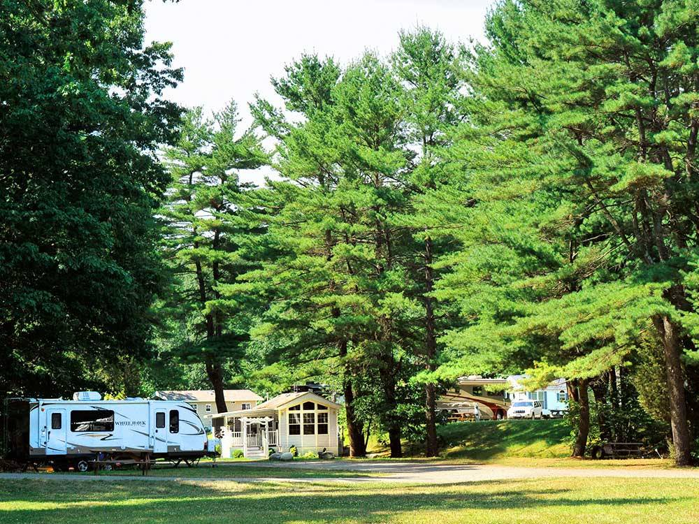 Trailer camping at TUXBURY POND RV RESORT