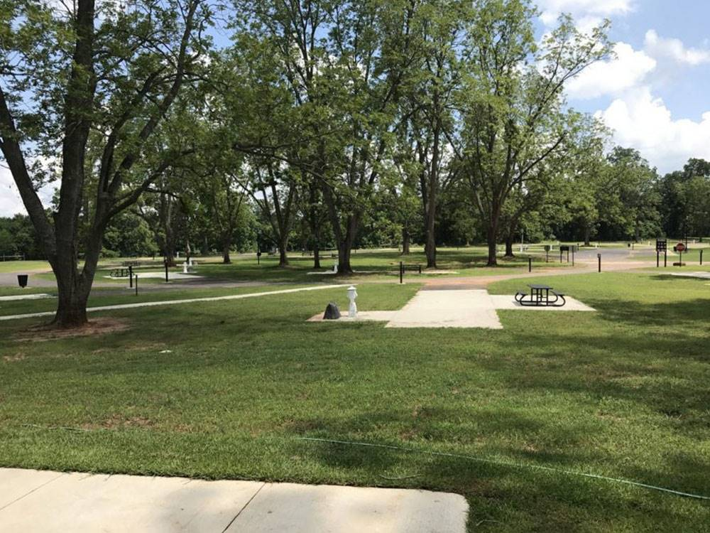 Campground with picnic tables at GRAND ECORE RV PARK