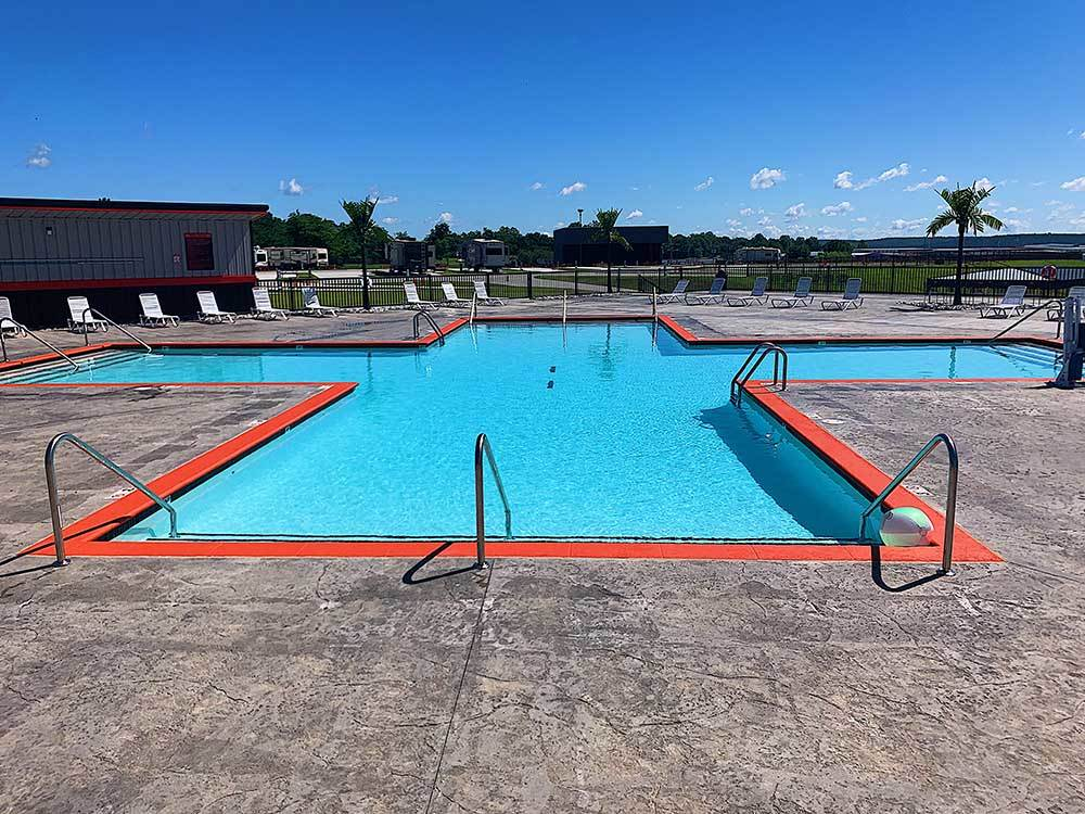 Swimming pool at campgrounds at XTREME RV RESORT