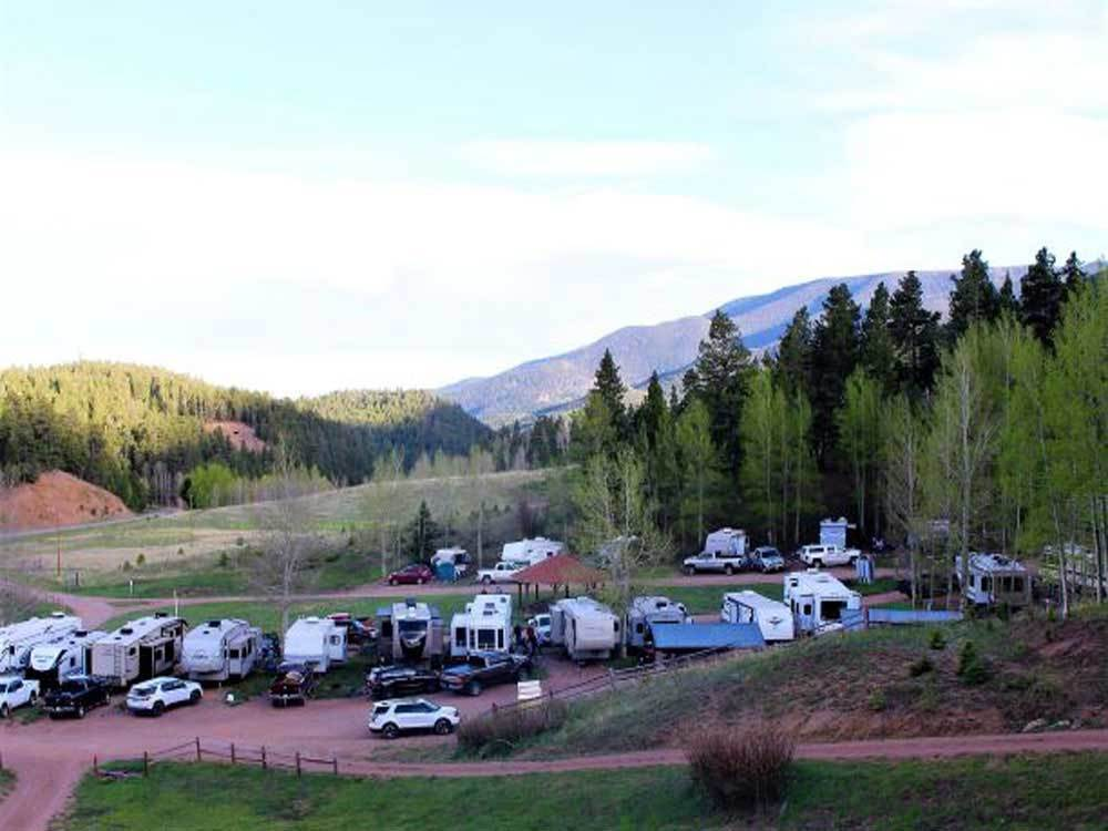 An aerial view of the campsites at ASPEN ACRES CAMPGROUND