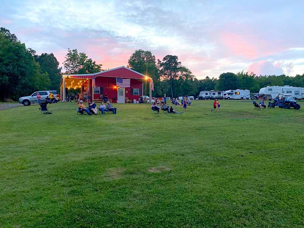 The front entrance sign at LAKE THURMOND RV PARK