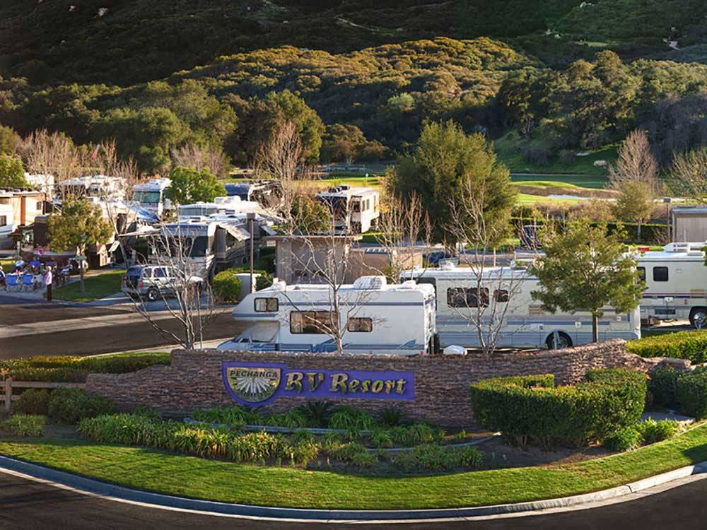 Resort entrance at PECHANGA RV RESORT