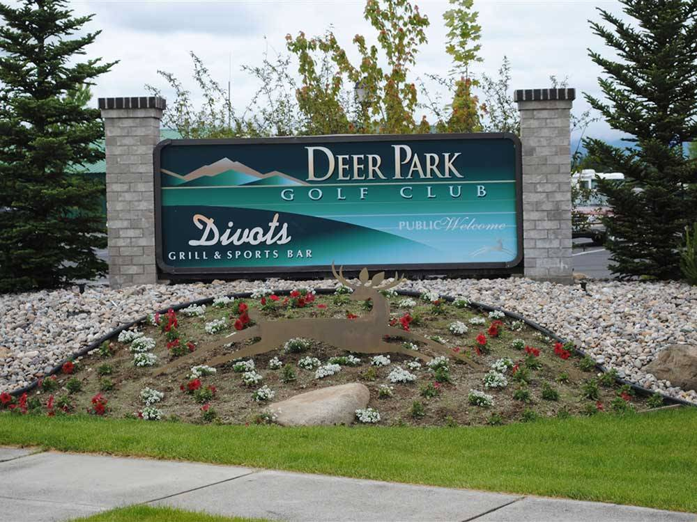 Golf club entrance at DEER PARK RV RESORT