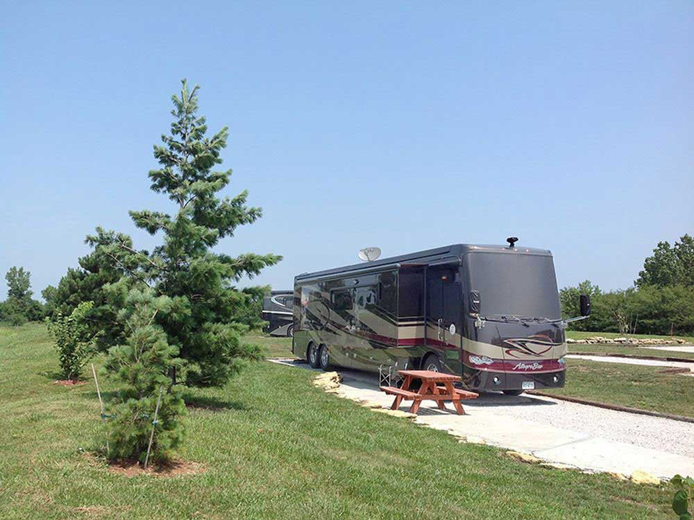 RV camping at park at PECULIAR PARK PLACE