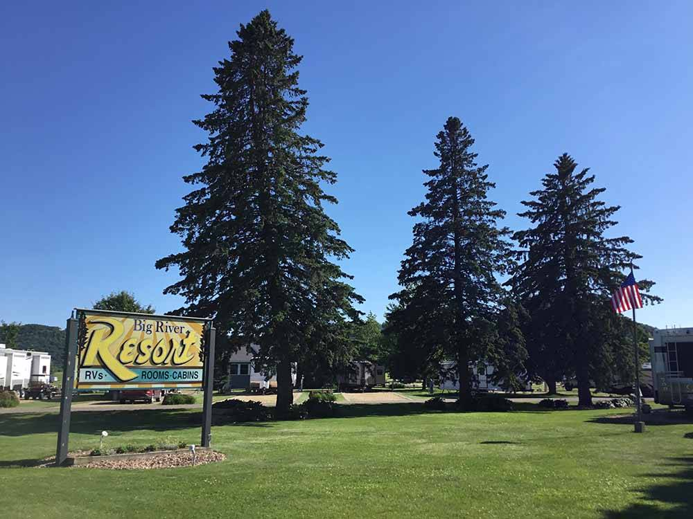 The front entrance sign at BIG RIVER RESORT