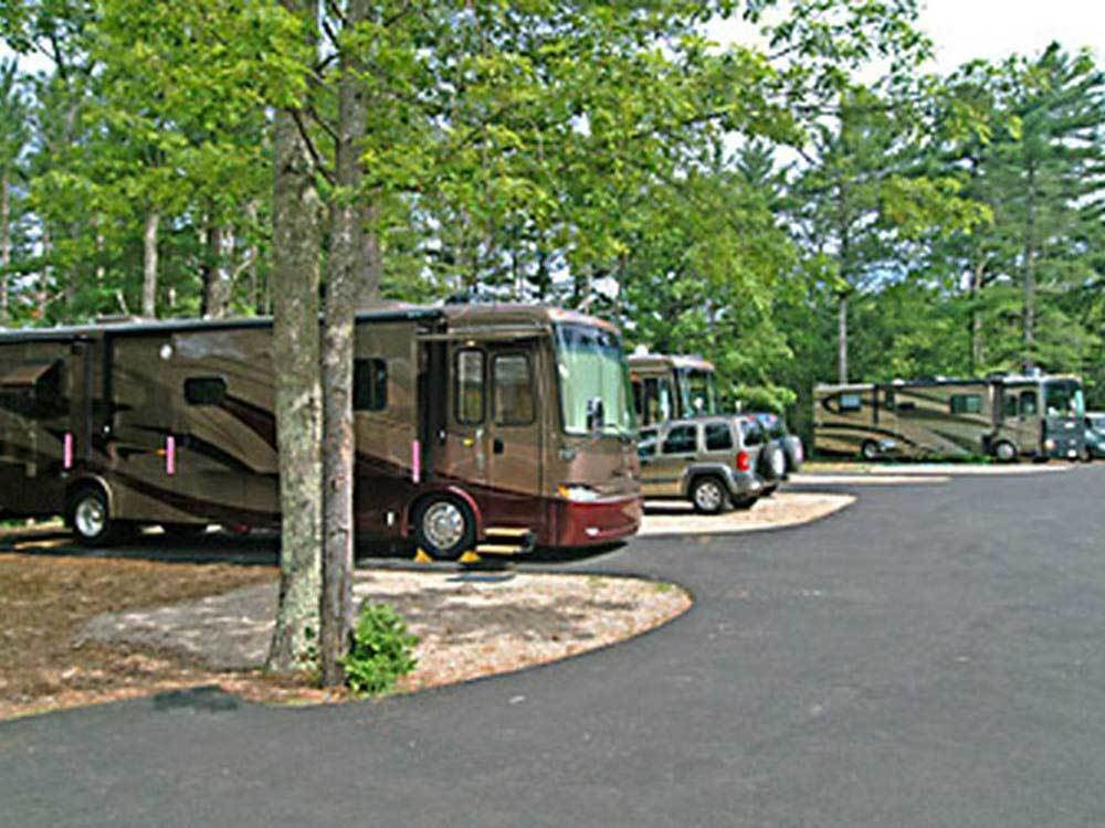 RVs camping at CAPE COD CAMPRESORT  CABINS
