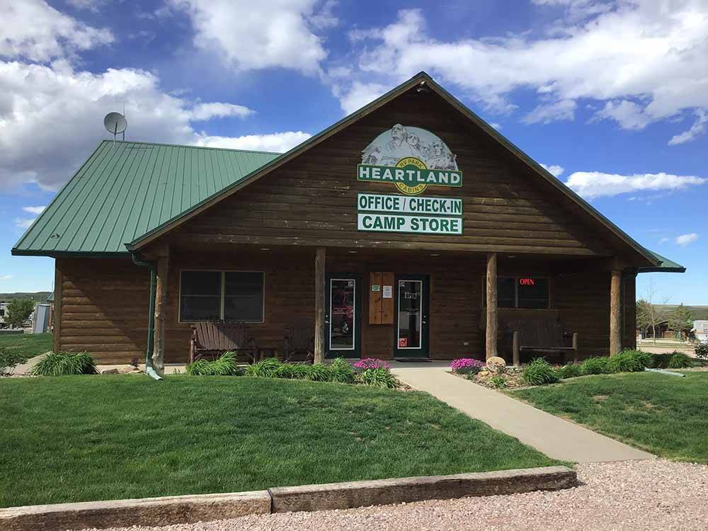 Lodge office at HEARTLAND RV PARK  CABINS