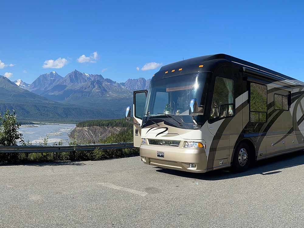 RV heading down the road at ALASKA CAMPGROUND OWNERS ASSOCIATION