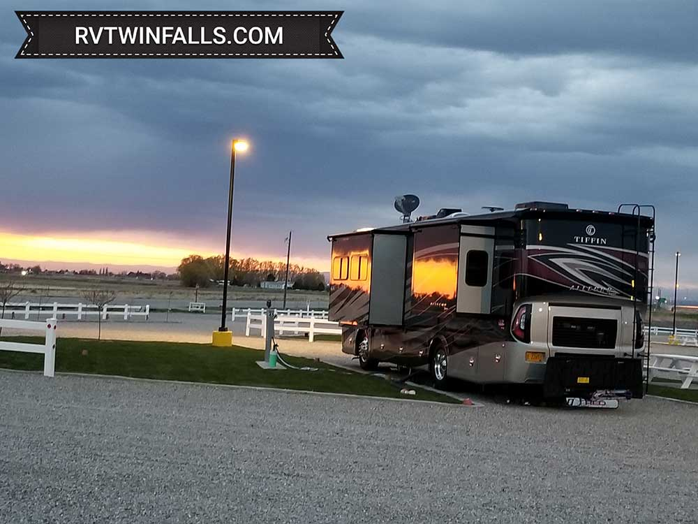 RV camping at park at TWIN FALLS 93 RV PARK