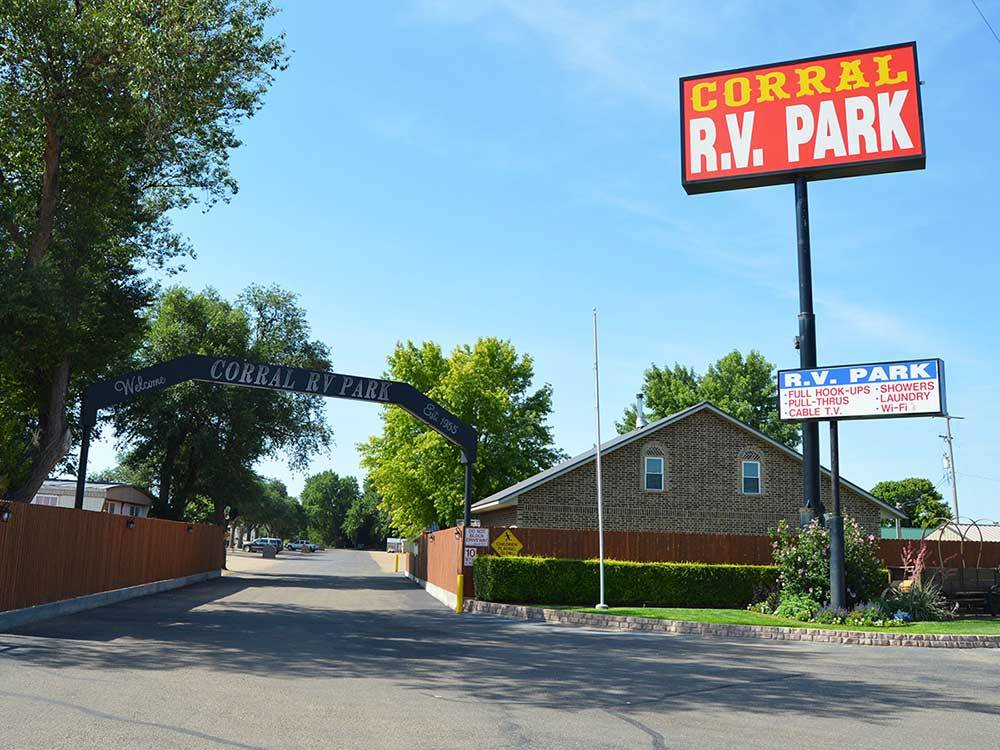 CORRAL RV PARK At DALHART TX
