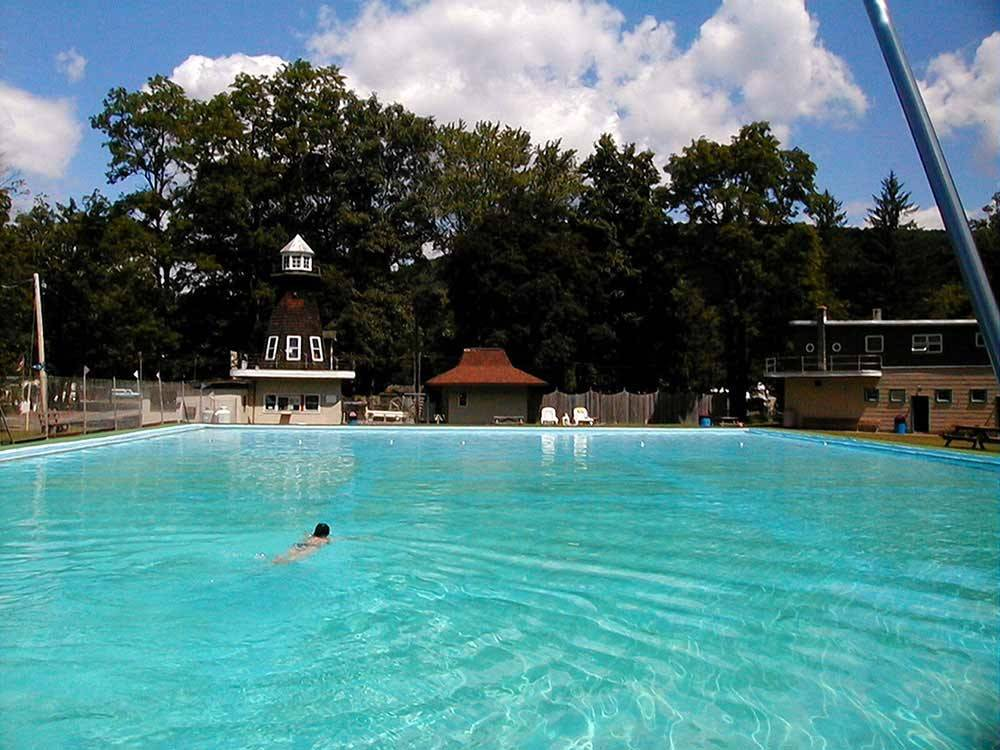 Swimming pool at campgrounds at ECHO VALLEY CAMPGROUND
