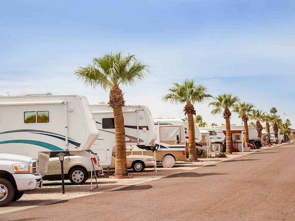 Trailers camping at CAPRI RV RESORT