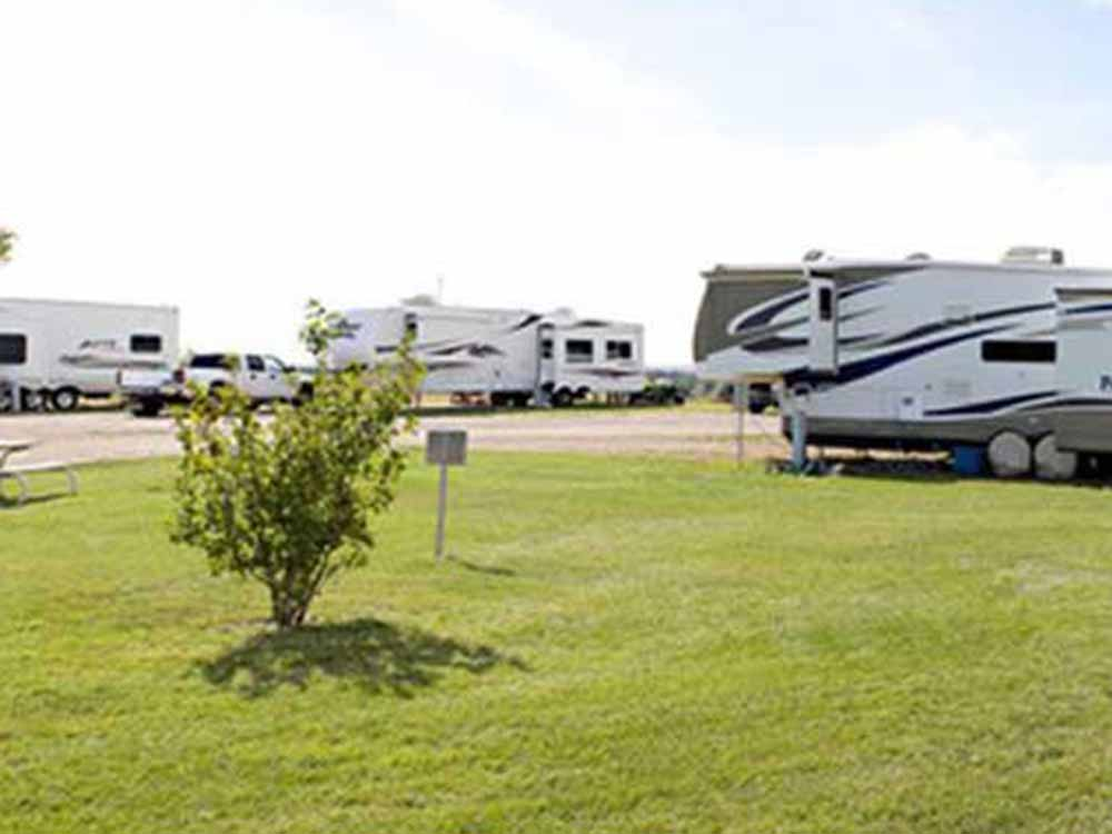 Trailers camping at COTTONWOOD INN  SUITES  RV PARK