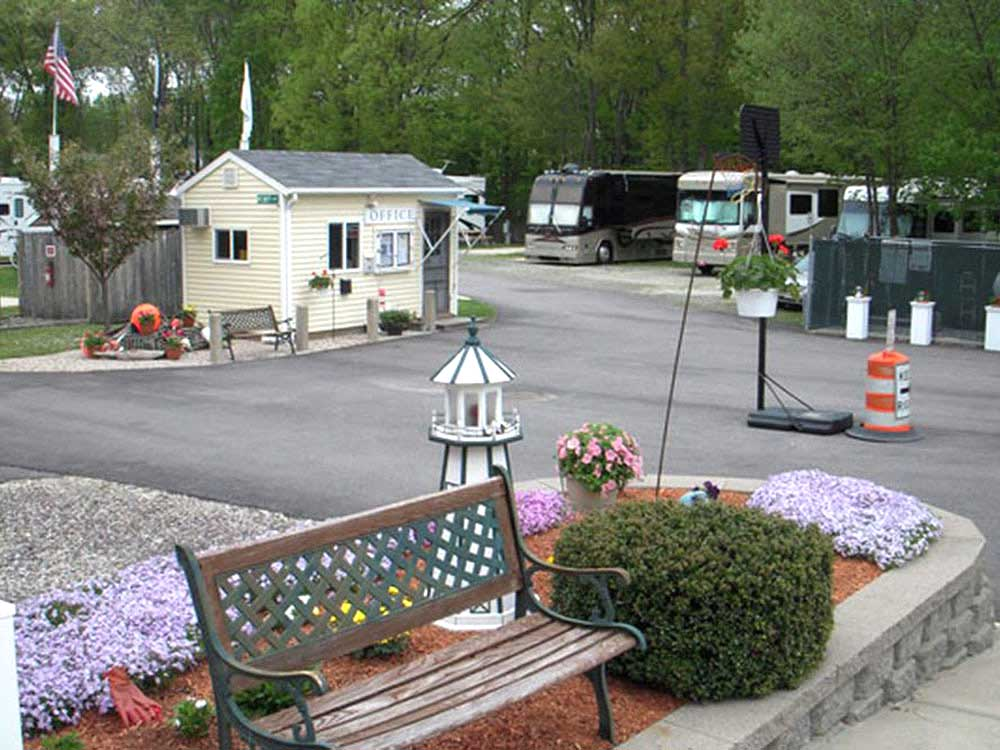 Lodge office at BEACH ROSE RV PARK