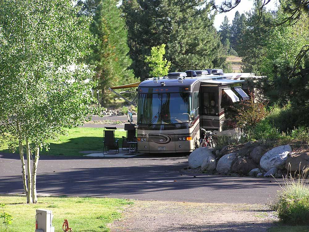 RV parked at campsite at MCCALL RV RESORT