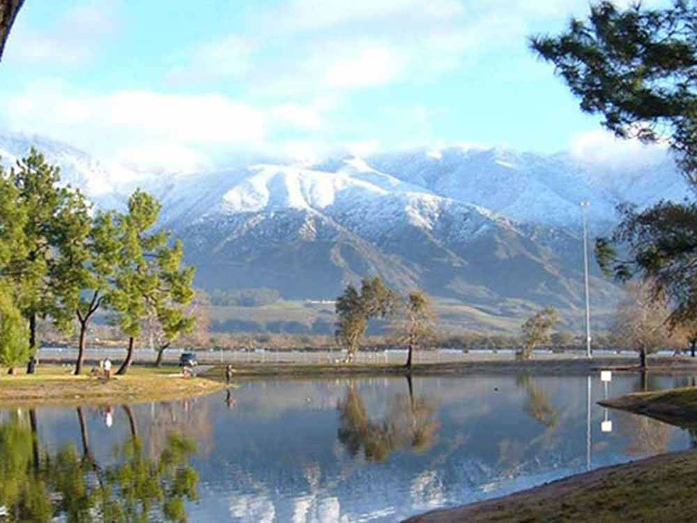 Lake view over mountains at SAN BERNARDINO COUNTY REGIONAL PARKS