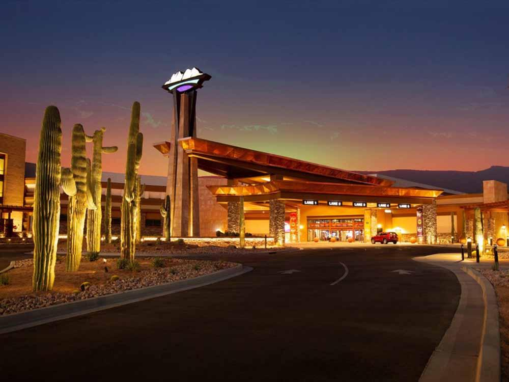 RVs parked in a row at EAGLE VIEW RV RESORT AT FORT MCDOWELL