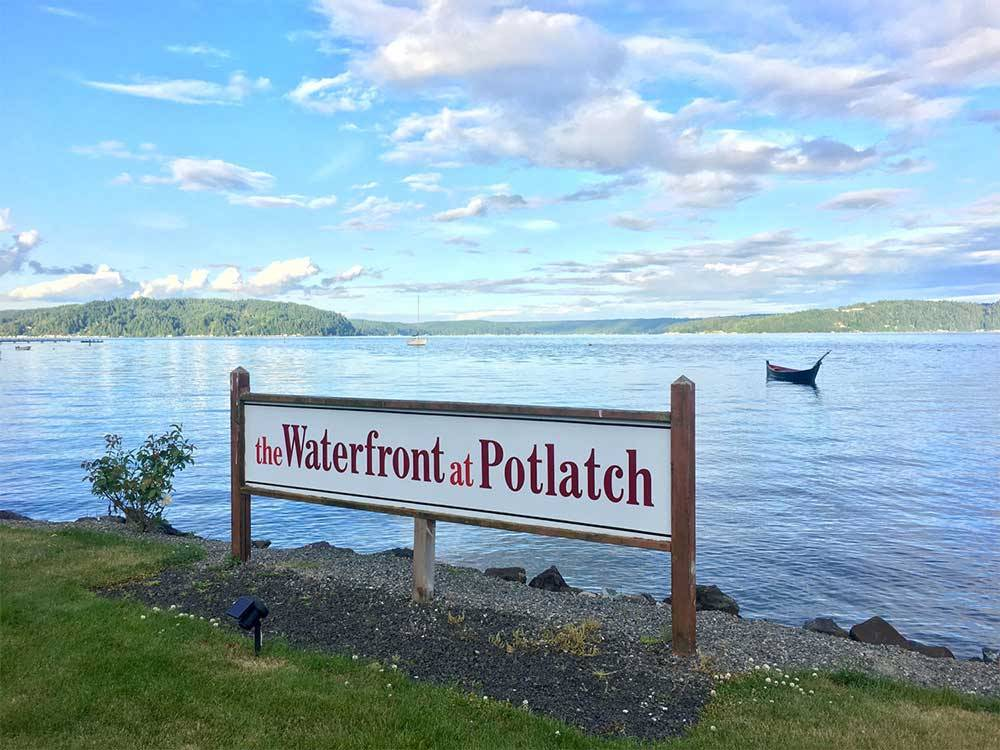 Lake view at THE WATERFRONT AT POTLATCH RESORT  RV PARK
