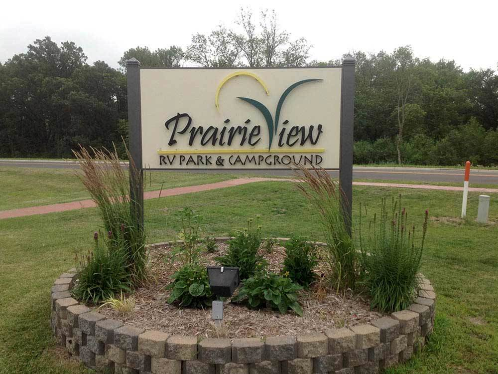 Entrance sign at PRAIRIE VIEW RV PARK  CAMPGROUND