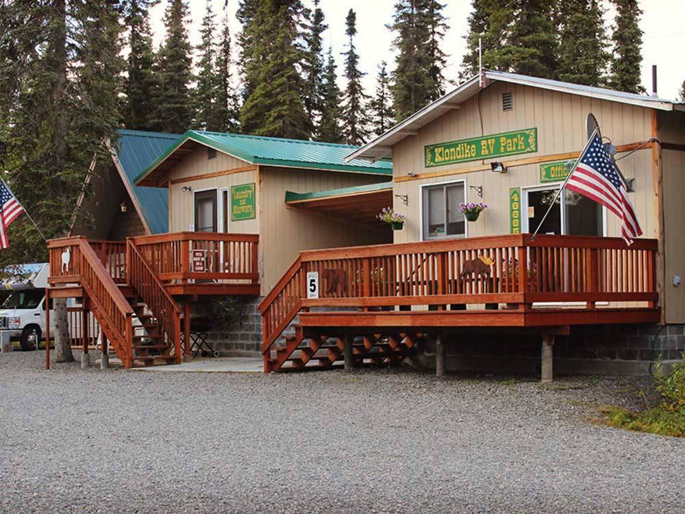 Park office buildings at KLONDIKE RV PARK  CABINS