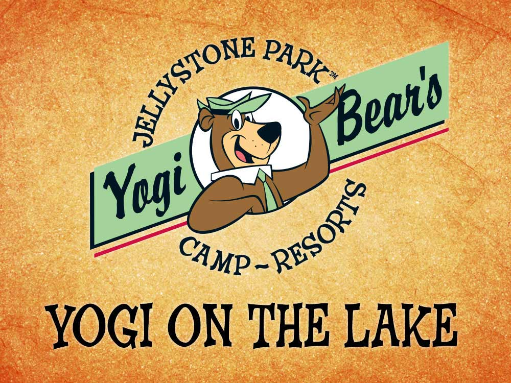 Sign leading into campground resort at YOGI ON THE LAKE