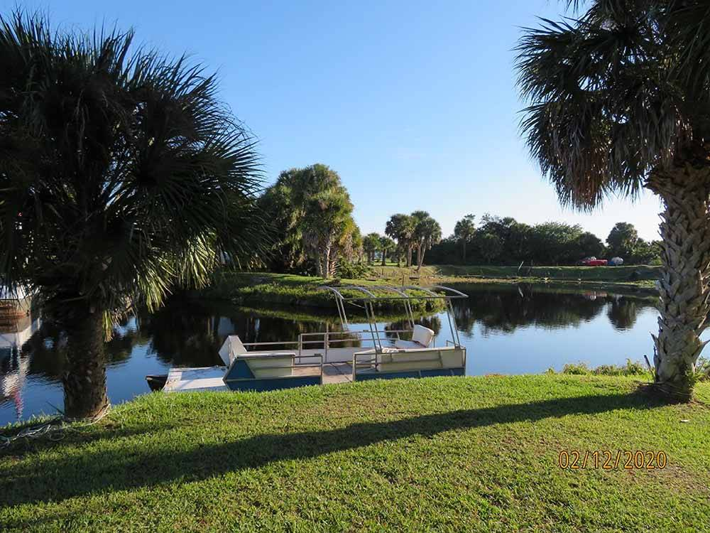 Beautiful aerial view of waterfront at THE GLADES RV RESORT