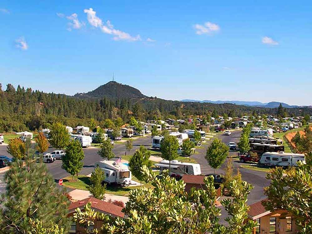 An aerial view of the sites at JACKSON RANCHERIA RV PARK