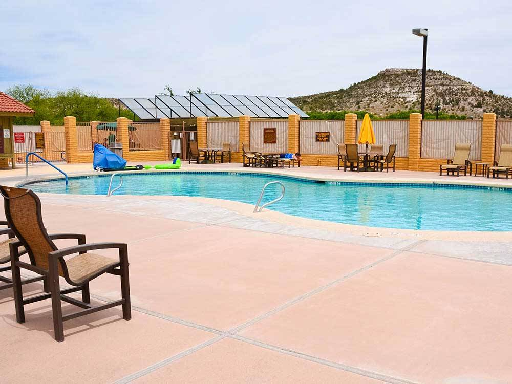 Swimming pool at campground at VERDE VALLEY RV  CAMPING RESORT