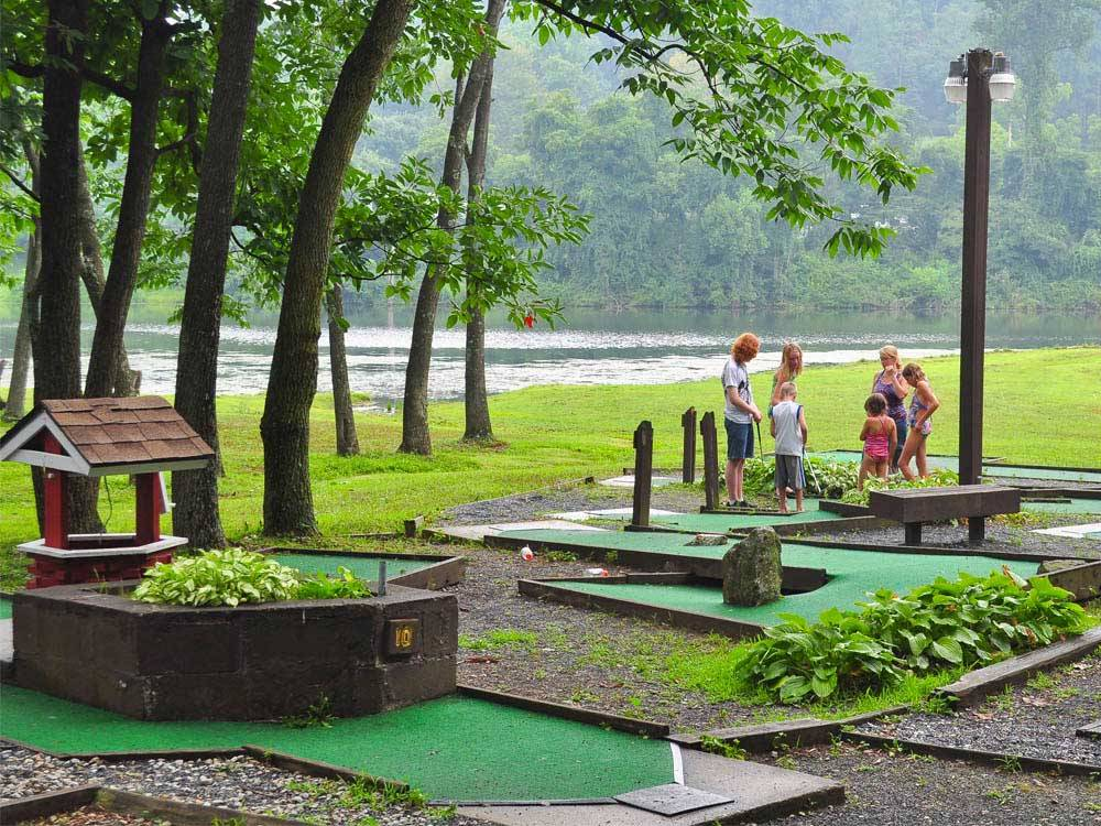 Miniature golf course at HERSHEY RV  CAMPING RESORT