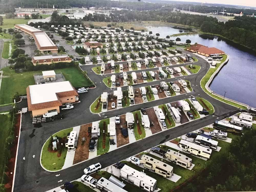 Trailers and RVs camping at COASTAL GEORGIA RV RESORT