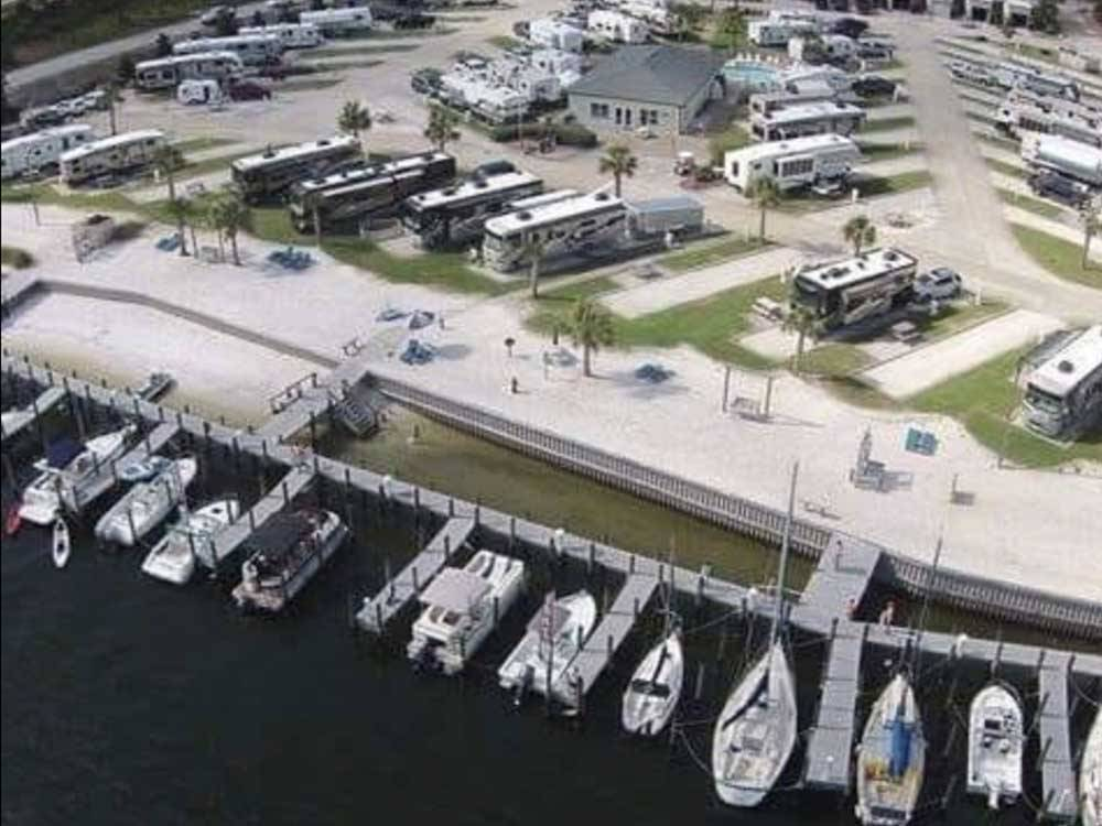 Overhead view of the RV resort at PERDIDO KEY RV RESORT