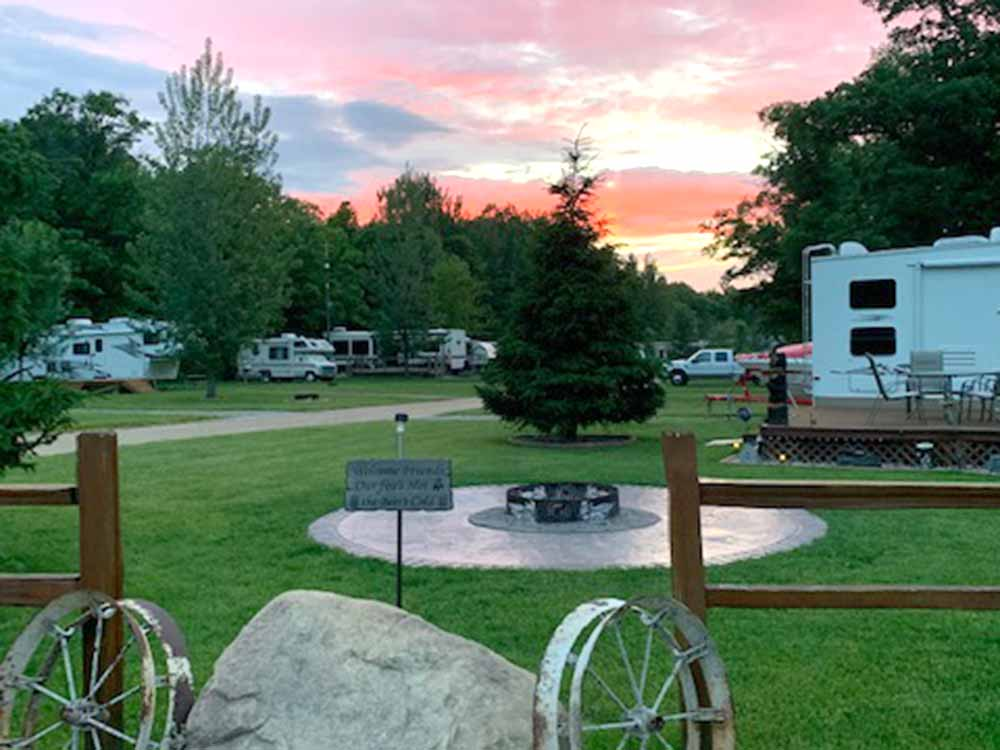 Trailer camping at TRAILS RV PARK