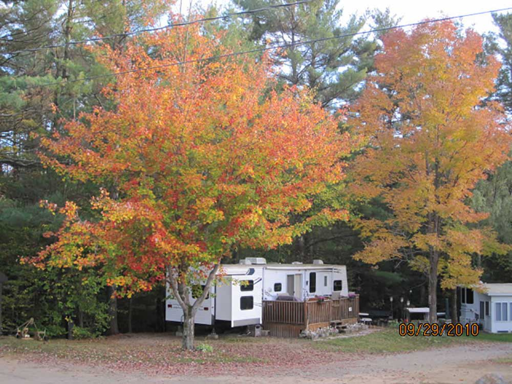 Trailers camping at AMES BROOK CAMPGROUND