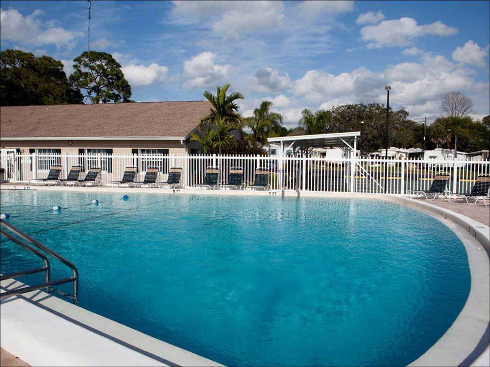 Swimming pool at campgrounds at ARBOR TERRACE RV RESORT