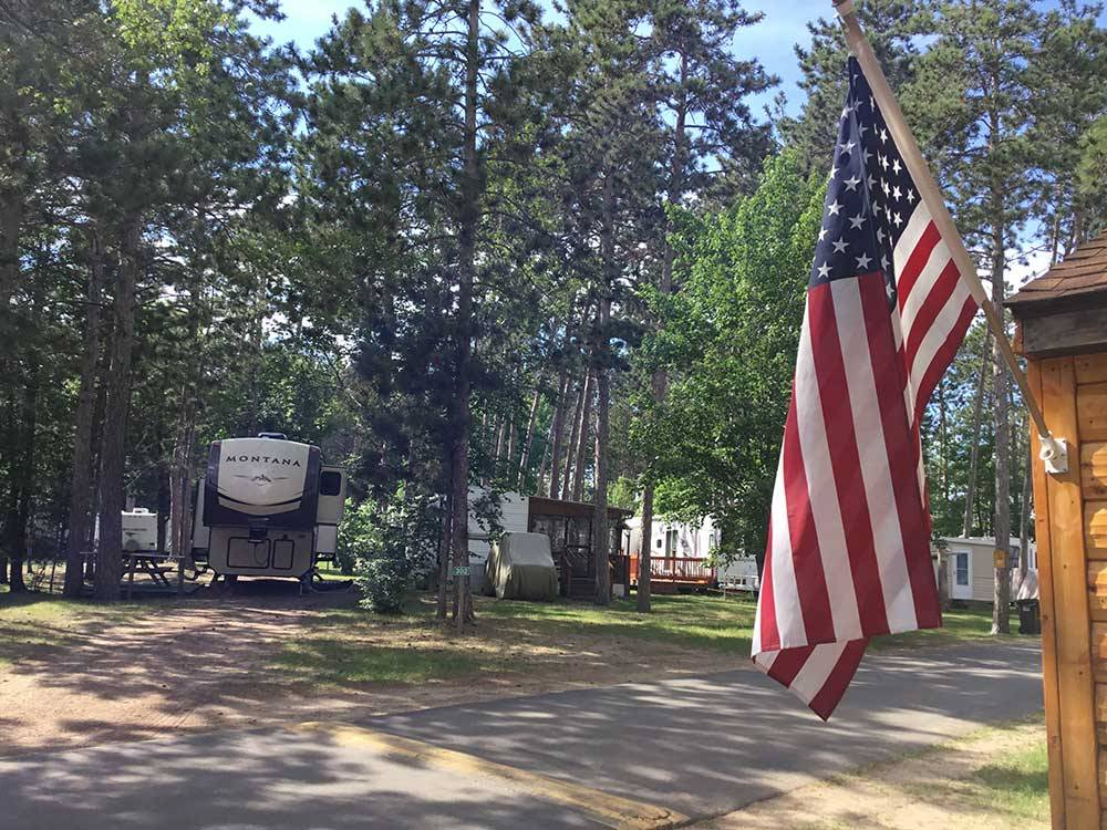 Stony point resort rv park campground cass lake for Camp sites with cabins