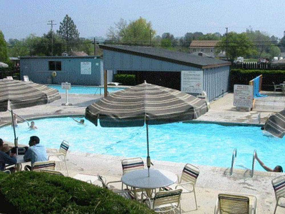 Swimming pool at campgrounds at 49ER VILLAGE RV RESORT