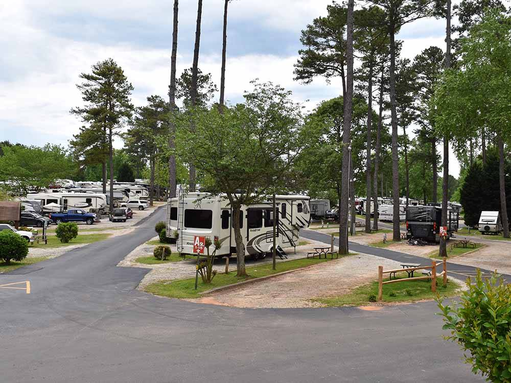 Trailers and RVs camping at ATLANTA SOUTH RV RESORT