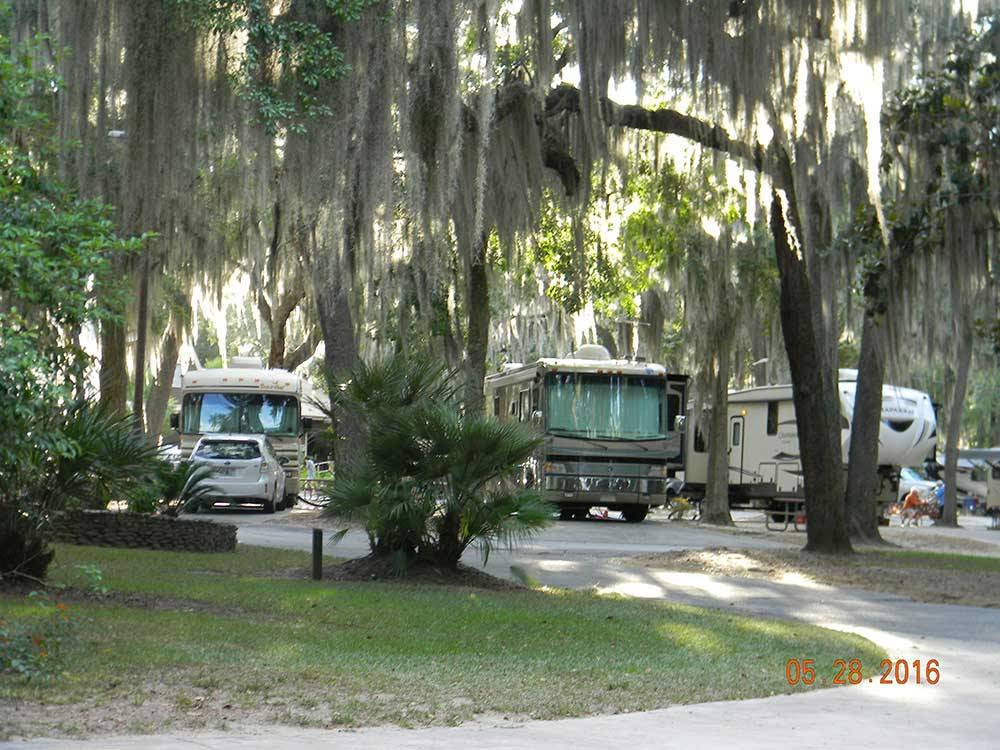 RVs and trailers at EAGLES ROOST RV RESORT  CONFERENCE CENTER