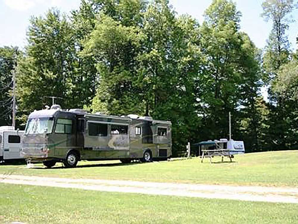 RV parked at POPE HAVEN CAMPGROUND