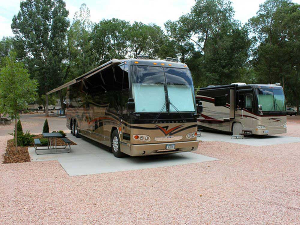 RVs camping at GARDEN OF THE GODS RV RESORT