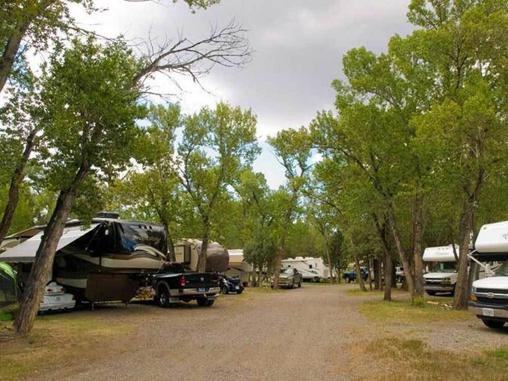 RVs and trailers at campgrounds at SOUTH FORK CAMPGROUND