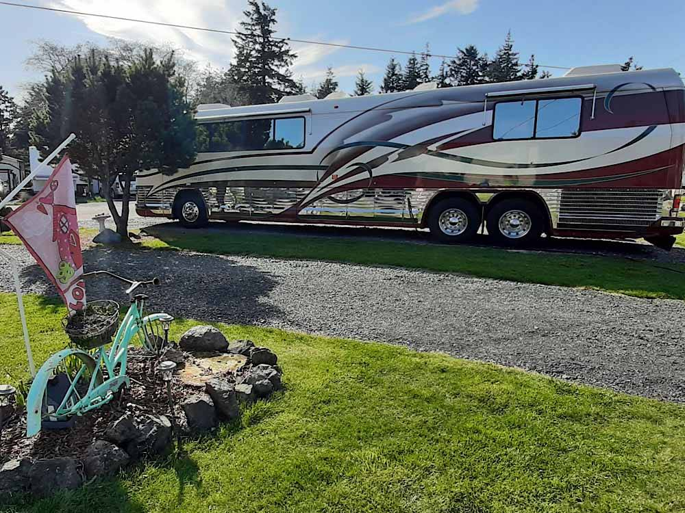 RV camping at PORT ORFORD RV VILLAGE