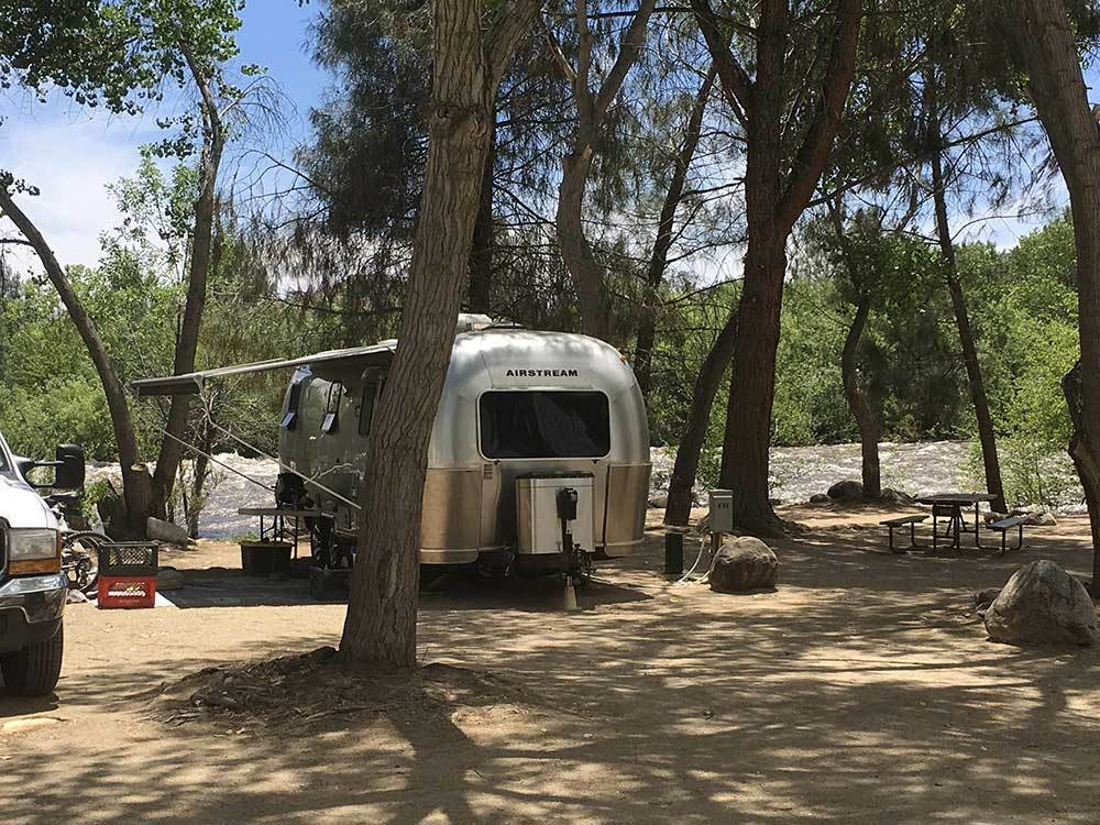 Airstream trailer camping at RIVERNOOK CAMPGROUND