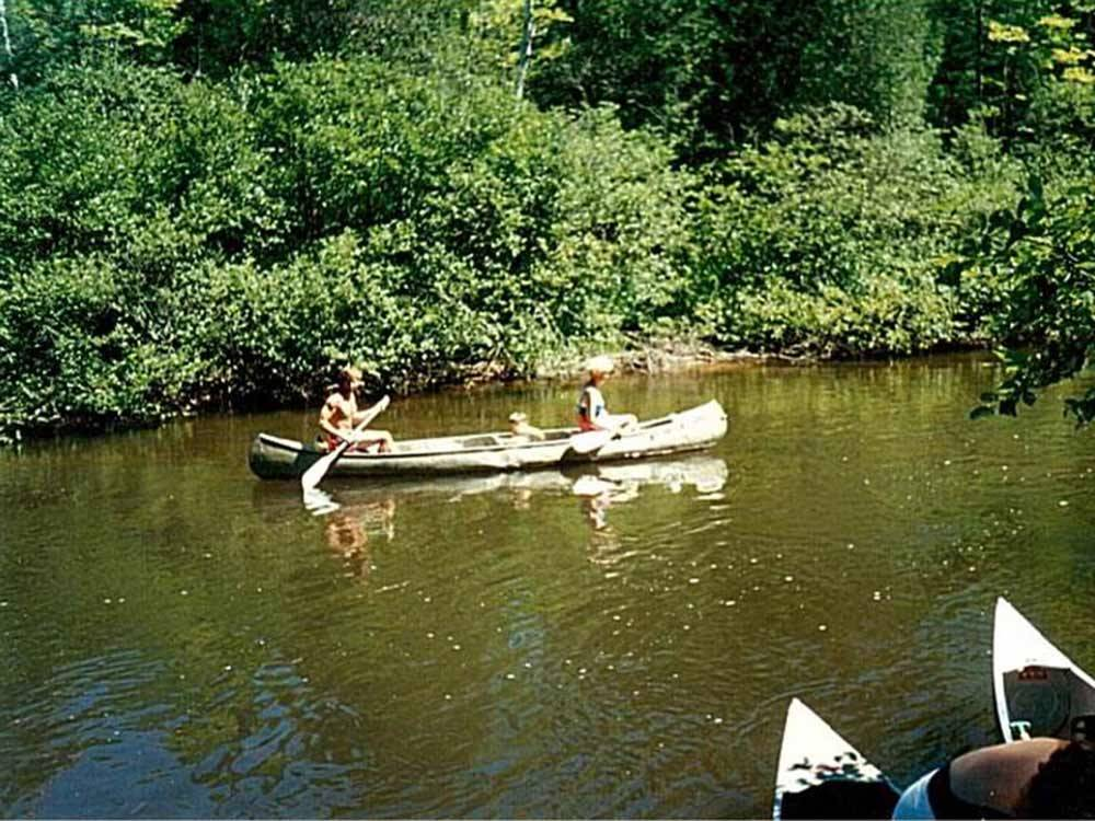 Couple canoeing at BIG CEDAR CAMPGROUND  CANOE LIVERY