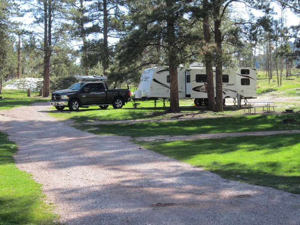 Trailer camping at HORSE THIEF CAMPGROUND AND RESORT