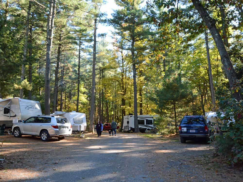 Trailers camping at BOSTON MINUTEMAN CAMPGROUND
