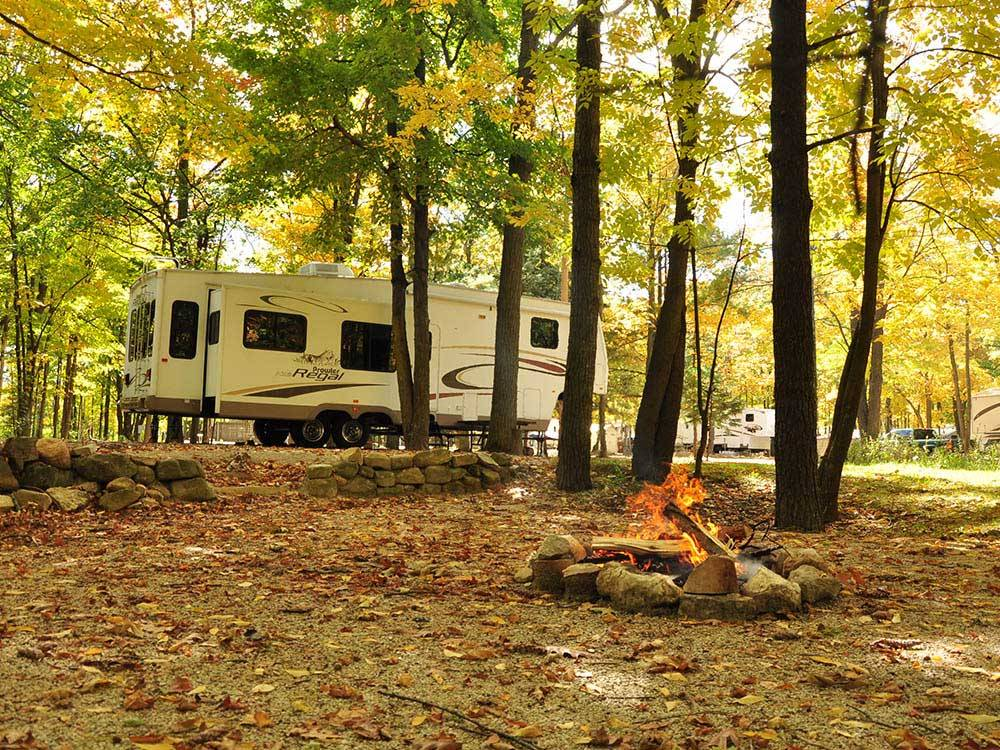 Trailer camping at TRANQUIL TIMBERS CAMPING RETREAT